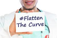 Flatten The Curve hashtag stay at home Corona virus coronavirus disease doctor ill illness healthy health