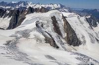 Gletscher beim Sustenhorn in der Schweiz