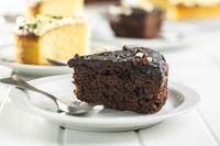 Piece of chocolate cake.