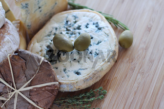 Cheese and Olives composition