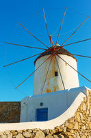Old windmilll in Mykonos in Greece