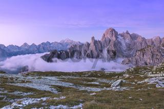 Sextener Dolomiten Cadinspitzen im Morgenlicht