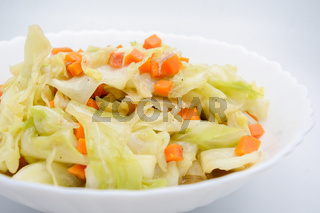 Fried Cabbage With Fish Sauce. it is a simple menu, make the fish sauce to be good smell on the surface of the pan. When sauce is heated, the water will evaporate, leaving only dried salt and fish.
