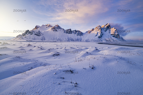Vestrahorn Winter Sunset