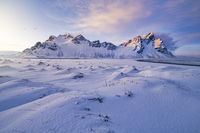 Vestrahorn Winter Sunset