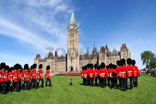 Changing of the guard in Ottawa, Canada