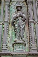 padua, italy - mar 19, 2019 - detail of the facade of the basilica of saint antonius