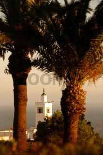TUNISIA SIDI BOU SAID OLD TOWN MOSQUE
