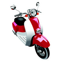 Picture of motor scooter of old model