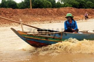 Traditional village life in Kampong Phluck on Tonle Sap Lake, Siem Reap, Cambodia