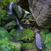 Lichtenhainer waterfall in the Kirnitzsch valley near Bad Schandau