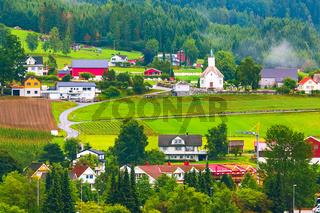 Norway, Loen village landscape