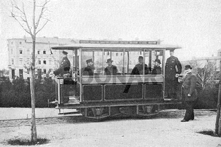 The Gross Lichterfelde Tramway, the world's first electric tramway, 1881, Berlin, Germany