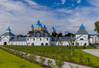 Konevsky Monastery on Konevets Island on Lake Ladoga - Russia