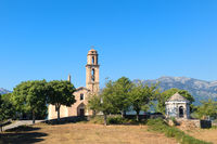 Church in little Corsican mountain village