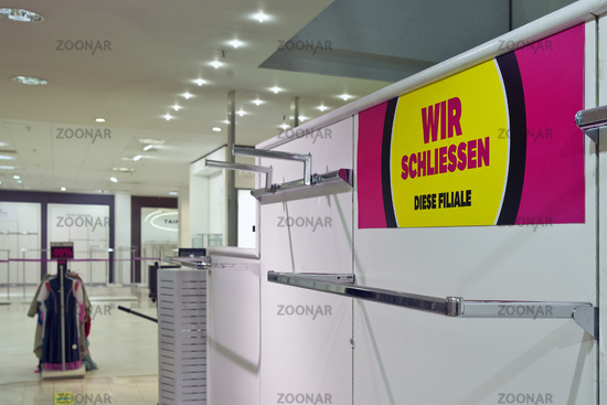 Galeria Karstadt Kaufhof, business closure, Witten, North Rhine-Westphalia, Germany, Europe
