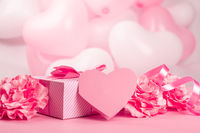 Valentine day gift and heart card
