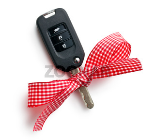 car key with ribbon
