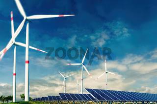 Windenergie und Photovoltaik