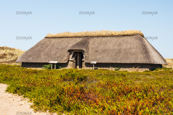 Iron Age house on the island of Amrum, North Frisia, Schleswig-Holstein, Germany