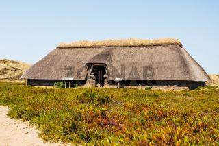 Eisenzeitliches Haus auf der Insel Amrum, Nordfriesland, Schleswig-Holstein, Deutschland
