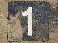 1 - weathered number