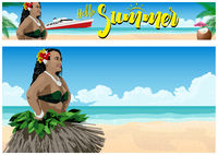 Summer Paradise on the Beach Background and Banner