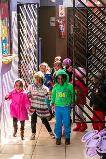 Young African Preschool kids at a kindergarten school