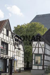 Fachwerkhaus im Nikolaiviertel von Unna, NRW, Deutschland