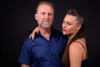 Portrait of mature couple together and in love