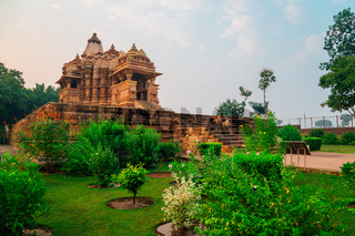 Western Group of Temples, ancient ruins in khajuraho, India