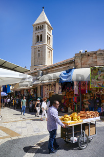 Jerusalem Israel. Selling bread in the old city