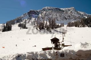 Ski Lift Snow Skiing Slopes North Cascades Summit Snoqualmie