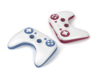 Two wireless gaming controllers