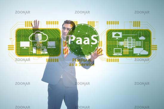 Businessman in platform as a service concept