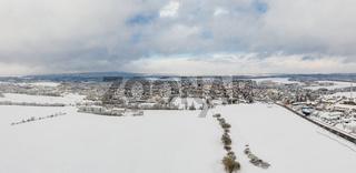 Luftbild Harzgerode im Winter