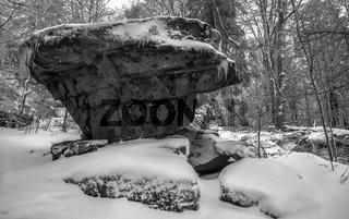 Winter am Grossen Waldstein im Fichtelgebirge
