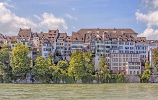 Rheinufer Basel, Schweiz