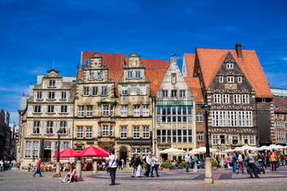 Historical market square in Bremen, Germany