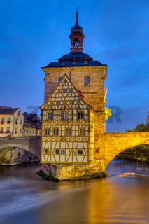 Das alte Fachwerk-Rathaus von Bamberg