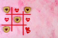 TIC-TAC-toe game. Valentines.