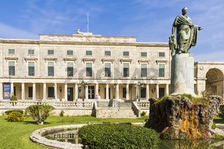 Statue Of Sir Frederick Adam Museum Corfu Greece