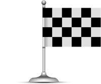 Checkered racing flag. Vector illustration on white