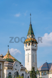 TARGU MURES, TRANSYLVANIA/ROMANIA - SEPTEMBER 17 : The Prefecture Tower in Targu Mures Transylvania Romania on September 17, 2018