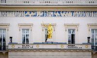 facade of buckingham palace in london, england