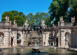 Fountain 'Bath of nymphs' in Zwinger, Dresden