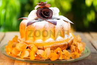 gugelhupf cake on plate