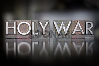 Holy War Letterpress