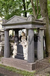 St. Petersburg Russia. Tikhvin cemetery