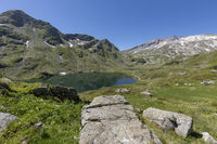 One of the Giglachseen lakes in Styria, Austria, in summer